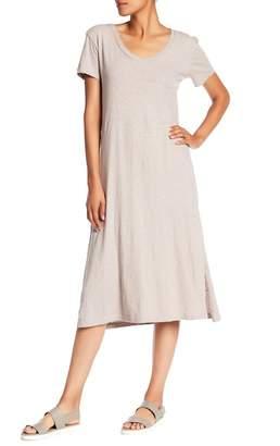 Allen Allen V-Neck Midi Dress