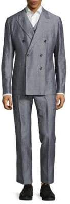 Dolce & Gabbana Regular Fit Three-Piece Pinstripe Suit