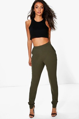 boohoo Tall Skinny Crepe 2 Pocket Trousers