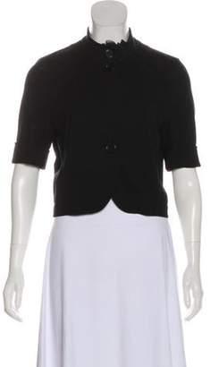 Akris Punto Button-Up Short Sleeve Vest Black Button-Up Short Sleeve Vest