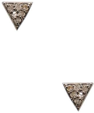 Waverly ADORNIA Fine Jewelry Women's Silver & 0.12 Total Ct. Champagne Diamond Triangle Stud Earrings