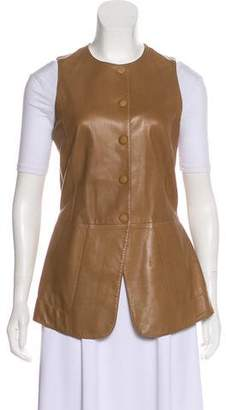 Hermes Leather Button-Up Vest
