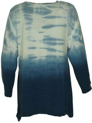 Style&Co. Style & Co. Womens Plus Ombre Tie Dye Casual Top