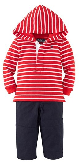 Ralph Lauren Stripe Hoodie & Pants (Baby Boys)