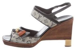 Louis Vuitton Monogram Wooden Wedges
