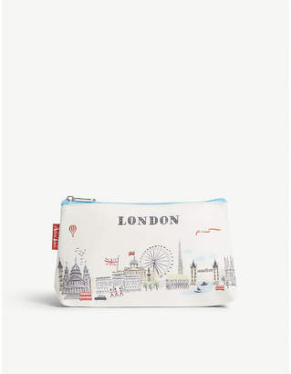 Alice Tait London-print make-up bag