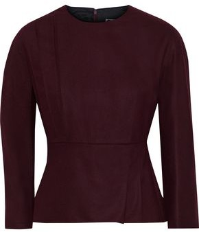 Lanvin Gathered Stretch-wool And Cashmere-blend Top