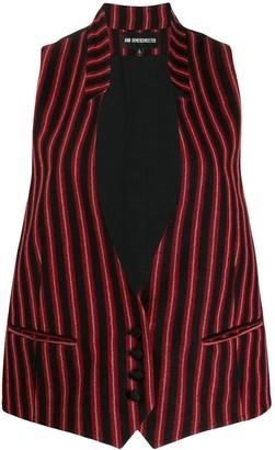 Ann Demeulemeester striped sleeveless blazer