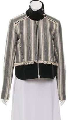 Veronica Beard Fringe-Accented Zip-Up Jacket
