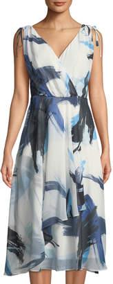 Taylor V-Neck Tie-Shoulder Dress