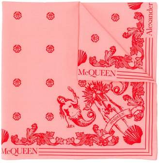 Alexander McQueen icon print scarf