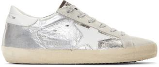 Golden Goose Silver Metallic Superstar Sneakers $480 thestylecure.com