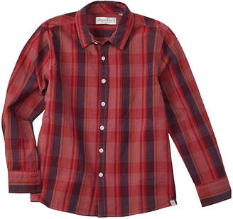 Sovereign Code Boy's Washed Up Red Woven Shirt