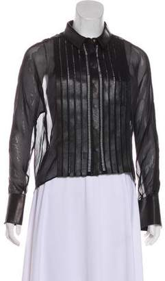 Jitrois Silk Leather -Trimmed Top