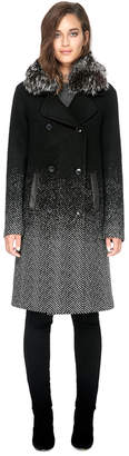 Soia & Kyo FEY-FX straight-fit above-knee length wool coat