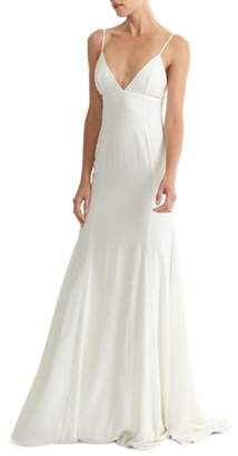 Joanna August Crosby Crepe Mermaid Gown