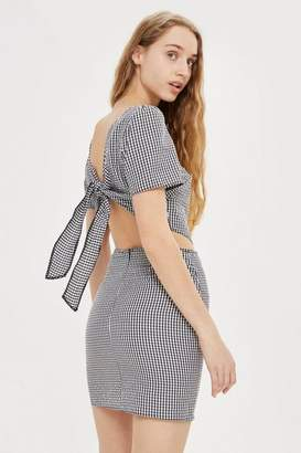 Oh My Love **Cut Out Gingham Mini Dress