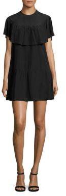 RED Valentino Silk Ruffle Dress $595 thestylecure.com