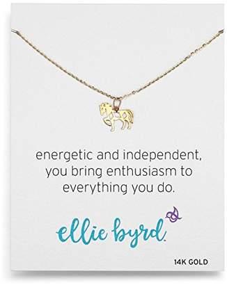 ellie byrd 14k Gold Horse Pendant Necklace