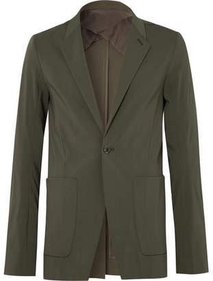 Rick Owens Dark-Green Slim-Fit Stretch Wool-Blend Blazer