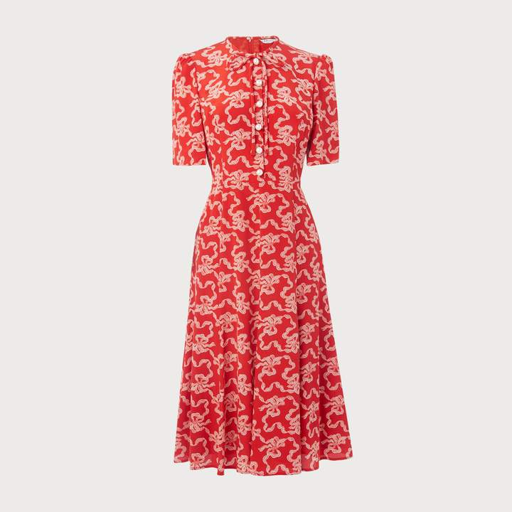 Montana Poppy Silk Dress