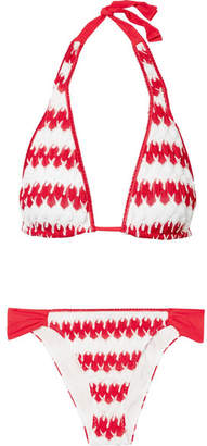 Missoni Mare Donna Crochet-knit Triangle Bikini - Red