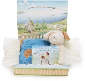 Bunnies by the Bay Best Friends Tuck Me In Blanket, Stuffed Animal & Board Book Set