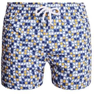 Frescobol Carioca - Sports Cerejeira Print Swim Shorts - Mens - Blue Multi