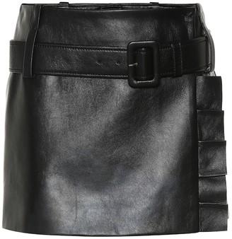 Prada Leather miniskirt