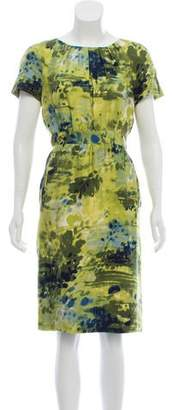 Peter Som Abstract Knee-Length Dress