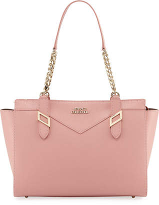 Versace Saffiano Leather Chain Shoulder Bag, Pink