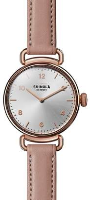 Shinola Canfield Leather Strap Watch, 32mm