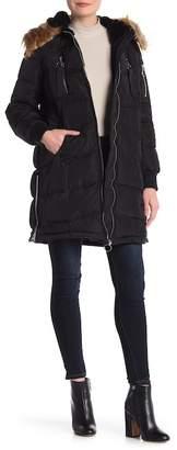 Steve Madden Faux Fur Hooded Puffer Jacket
