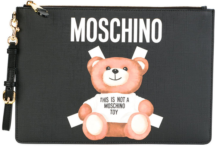 Moschino Moschino toy bear paper cut out clutch