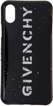 226e43985d62 Givenchy Black Stencil Logo iPhone X Case