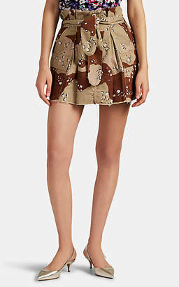 ATTICO RE/DONE + THE Women's Pleated Camouflage Cargo Miniskirt - Sand