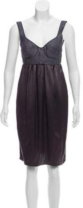 Proenza Schouler Metallic-Accented Knee-Length Dress