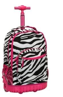 """Rockland Zebra 19"""" Rolling Backpack"""