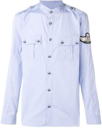 Balmain patch button down shirt