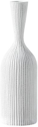 Torre & Tagus Zoro Carved Line Resin Floor 20In Vase