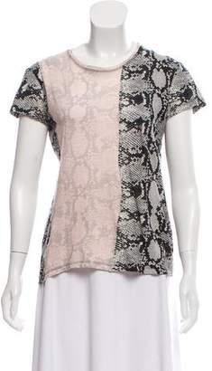 Proenza Schouler Printed Colorblock T-Shirt