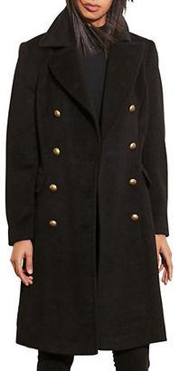 Lauren Ralph Lauren Wool-Blend Military Coat $320 thestylecure.com