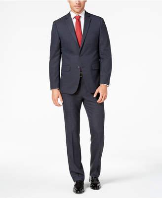 Van Heusen Flex Men's Slim-Fit Stretch Blue Windowpane Check Suit