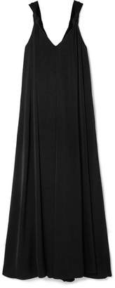 Elizabeth and James Laverne Knotted Cady Maxi Dress - Black