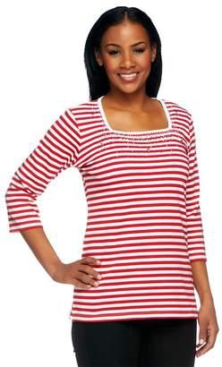 Factory Quacker Nautical Stars & Stripes Square Neck T-shirt