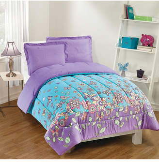 Gizmo Kids Butterfly Dreams 3-Piece Comforter Set, Full Bedding