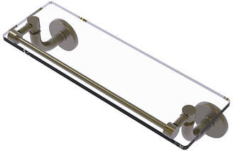 ALLIED BRASS Allied Brass Remi Collection 16 IN Glass Vanity Shelf With Gallery Rail