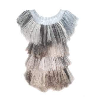 Claire Andrew - Grey Shades Fringed Knit Top