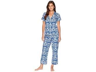 BedHead Blue Mermaid Short Sleeve Cropped Pajamas Women's Pajama Sets