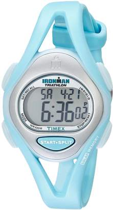 Timex Women's T5K701 Ironman Sleek 50 Mid-Size Mint Resin Strap Watch